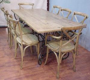 面板鐵架桌,巴黎椅