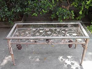 戶外桌子 透明玻璃臺