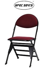 圓背薄墊可掀型著地折疊椅