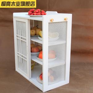 放碗柜現代簡約宜家象牙白歐式餐邊柜廚房家具簡易廚房柜碗櫥