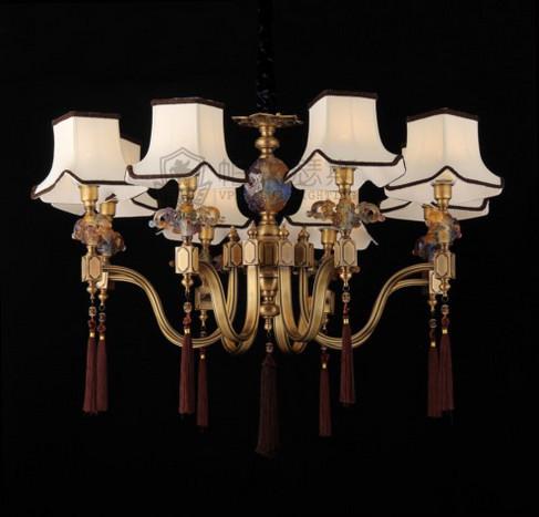 维利亚全铜灯新中式古典吊灯95689/吊灯