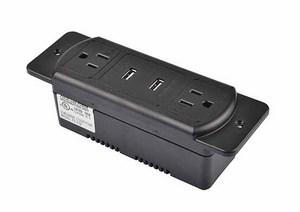 暗藏式TR保護排插帶中間兩個USB