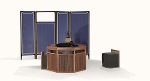 C區茶室組 茶臺、茶凳