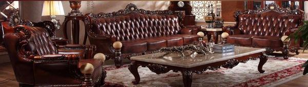 American classical leather sofa