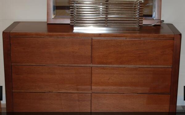 Solid wood storage cabinet
