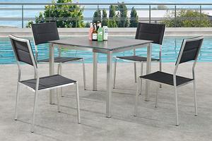 不銹鋼戶外家具組合 餐桌椅
