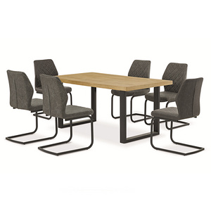 木紋紙貼面板式餐桌