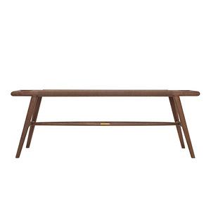 時慢  現代中式  實木長板凳兒