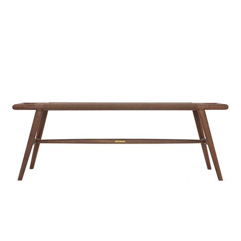 时慢  现代中式  实木长板凳儿