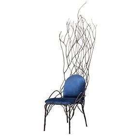 枝狀椅之一 藍