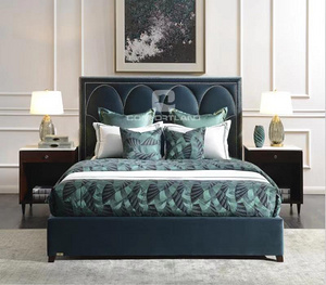 Modern light luxury double bed
