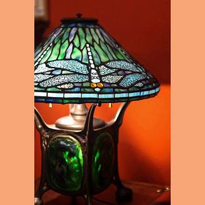 意大利慕拉諾Tiffany Style彩色玻璃藝術桌燈