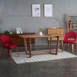歐式實木餐桌現代簡約小戶型家用餐桌長方形實木咖啡桌餐桌