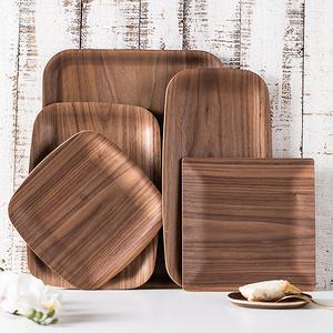 朵頤 日式隔熱茶托杯墊實木制客廳茶盤家用托盤套裝