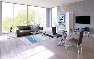 實木北歐風成套客廳家具