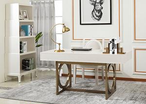 珍珠白不銹鋼書桌 HY-1735