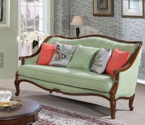 古典復古面料1座沙發的家庭家具