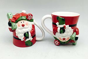 雪人圣誕老人狐貍企鵝倒立杯