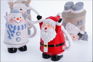 圣誕老人雪人倒立杯馬克杯