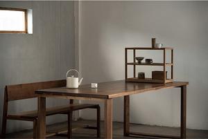MUMO木墨 桌面器皿置物架 茶室客廳 柚木黑胡桃木櫻桃木 實木家具