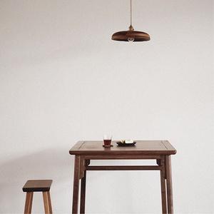 MUMO木墨 傳統四方桌 黑胡桃木餐桌 實木餐桌