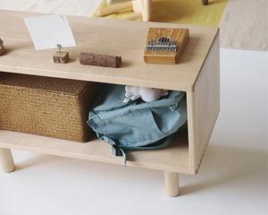 MUMO木墨 兒童方方柜 初制 兒童系列 置物柜 白楓木
