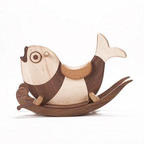 哈木的房间 全实木儿童木马摇摇马 宝宝玩具生日礼物样板房装饰