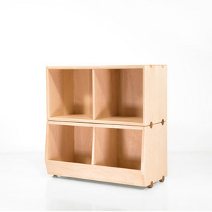 哈木的房間 全實木家具組合置物架兒童房玩具收納柜子儲物柜書柜