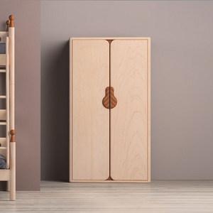 哈木的房間hamuoo兒童家具純實木大衣柜環保青少年臥室兩門儲物柜