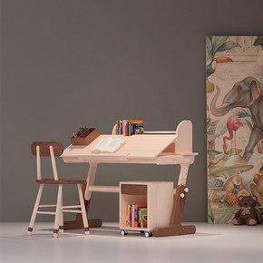 哈木的房间小学生学习桌儿童书桌可升降写字桌椅套装北欧实木家具