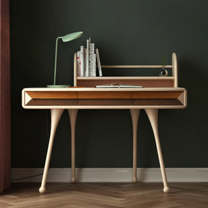 哈木的房間兒童家具實木書桌小學生學習桌北歐青少年電腦桌寫字臺