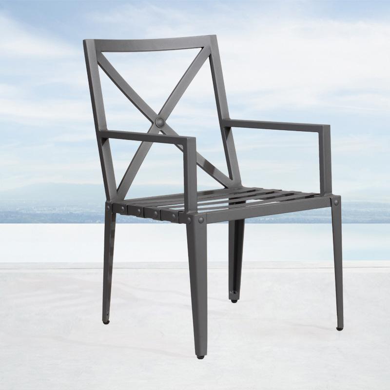 莫里斯户外铸铝一桌四椅