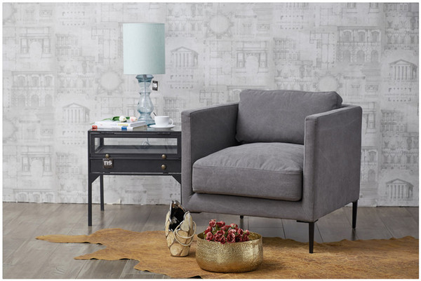 软包布艺单人沙发