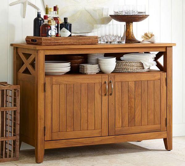 柚木备餐柜