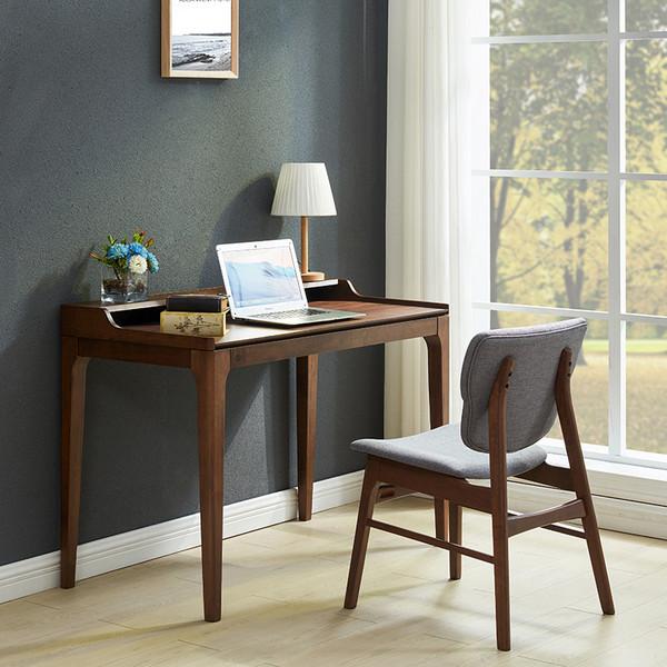 北欧电脑办公书桌椅组合家用简约现代书房写字台卧室小户型全实木