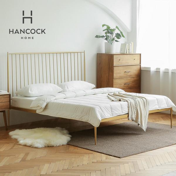 涵客家居丨正版Midcentury 北欧中古创意家居斯黛拉金色双人铁床