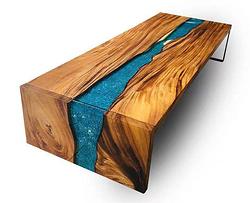 新中式 胡桃木 酒吧桌