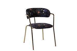 現代 餐椅 時尚印花布藝