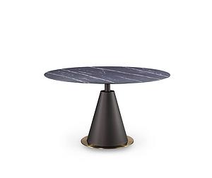 意式極簡天然微晶石高端餐桌