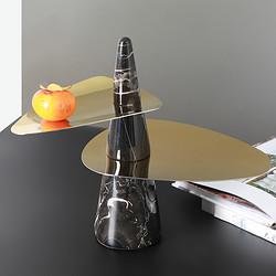 現代輕奢桌面果盤收納擺件