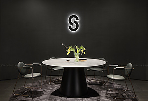 巖板餐桌-維京