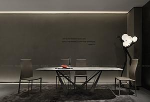 巖板餐桌-維多利亞