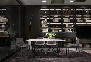 巖板餐桌-米蘭
