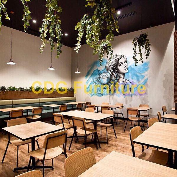 简约风格餐厅 北欧工业风  商场餐饮店餐椅 705-H45-STW