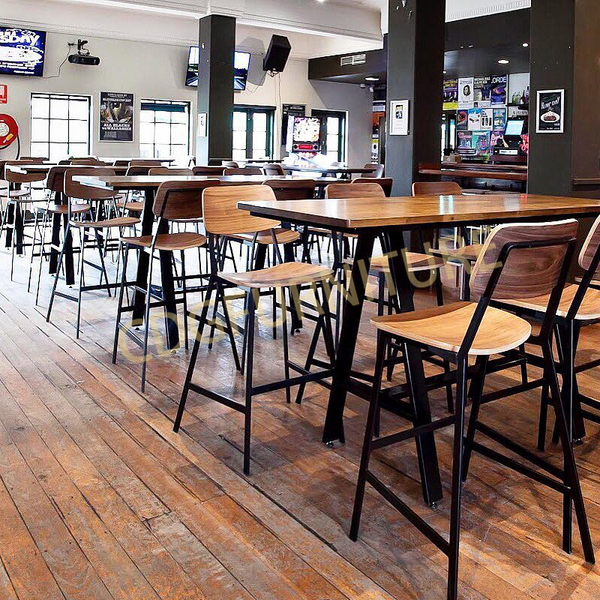 美式工业风 欧式金属风 酒吧俱乐部高档吧椅 705-H75-STWPU