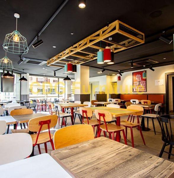 高档定制 个性主题餐厅 寿司店咖啡馆家具餐椅 658C-H45-STW