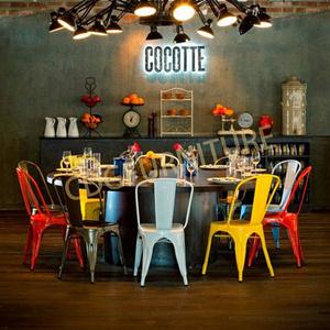 豪華工業風復古咖啡館店 Tolixs 金屬餐飲椅子  618-H45-ST