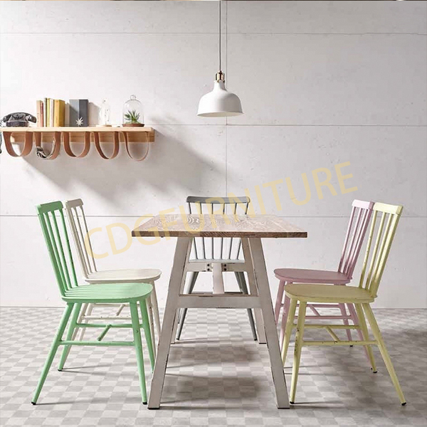 小清新奶茶甜品店 网红餐厅时尚餐椅桌  649DT-STW