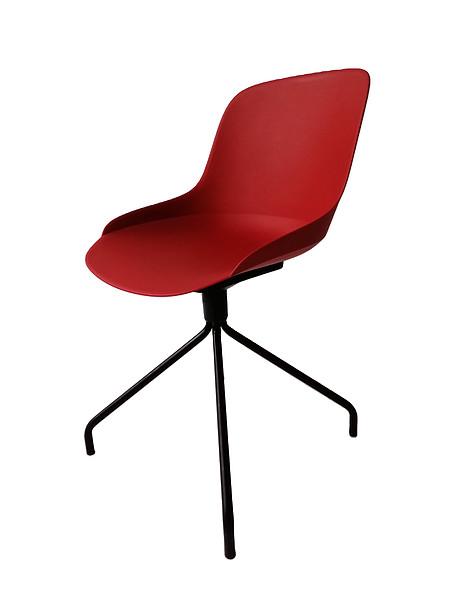 乐时原创设计时尚简约四爪旋转休闲椅可软包
