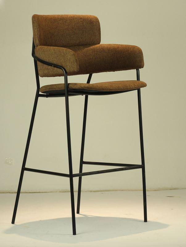 吧台椅北欧简约布艺软包吧椅创意高脚凳吧台凳酒吧椅吧凳高脚椅子 B384